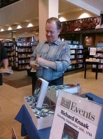 Richard Knaak Signing a Book