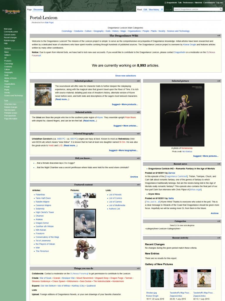 The Dragonlance Lexicon