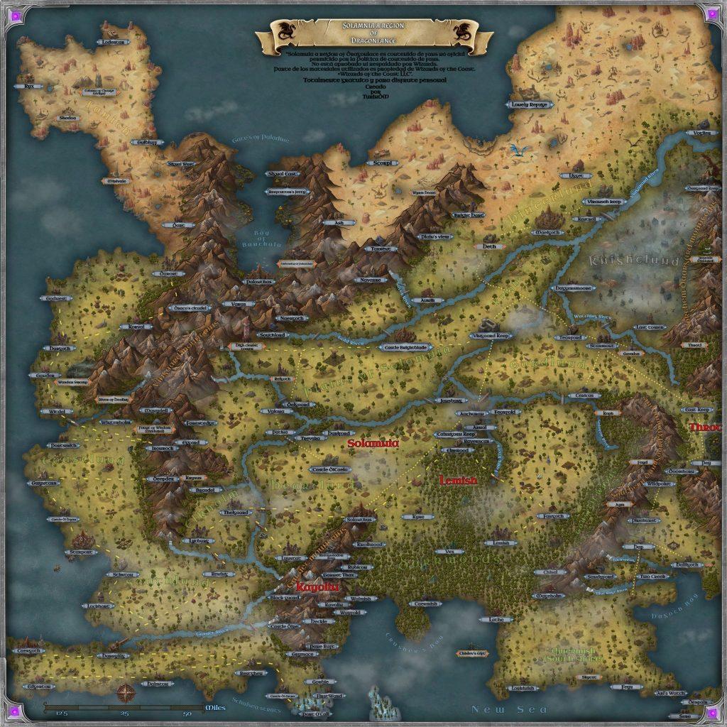 Solamnia Map