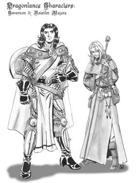 Caramon and Raistlin Majere