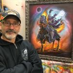 Ed Beard, Jr. with final Lord Soth painting.